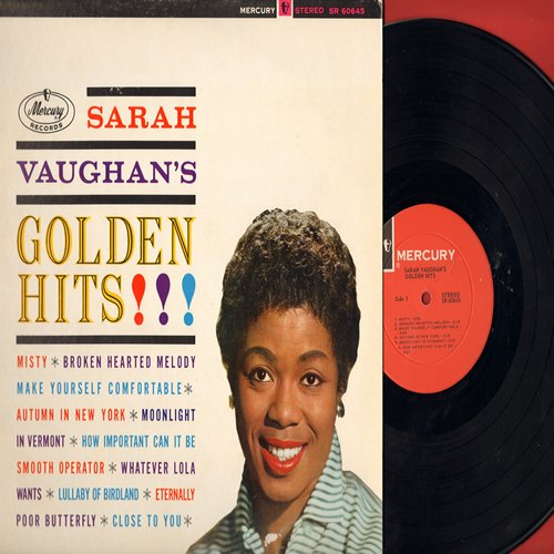 Vaughan, Sarah - Golden Hits!: Misty, Broken Hearted Melody, Make Yourself Comfortable, Whatever Lola Wants, Smooth Operator (Vinyl STEREO LP record) - EX8/NM9 - LP Records