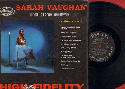 Vaughan, Sarah - Sarah Vaughan Sings George Gershwin Vol. 2: My Man's Gone Now, Let's Call The Whole Thing Off, Do It Again, A Foggy Day (Vinyl MONO LP record) - NM9/EX8 - LP Records