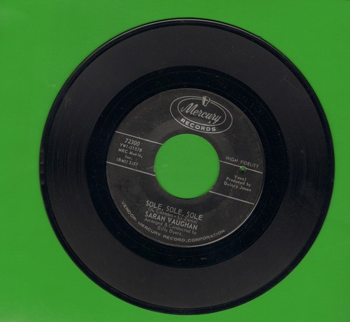 Vaughan, Sarah - Sole, Sole, Sole/How's The World Treating You (bb) - EX8/ - 45 rpm Records