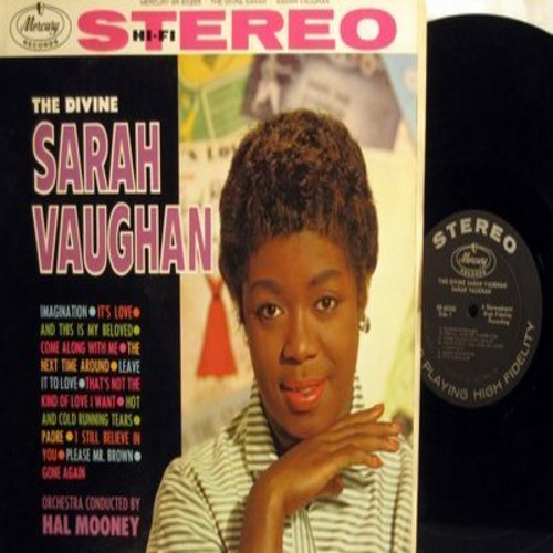 Vaughan, Sarah - The Divine Sarah Vaughan: Come Along With Me, Padre, Please Mr. Brown, It's Love, Imagination (Vinyl MONO LP record) - EX8/EX8 - LP Records