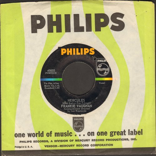 Vaughan, Frankie - Hercules/I'm Gonna Clip Your Wings (with Philips company sleeve) (bb) - EX8/ - 45 rpm Records