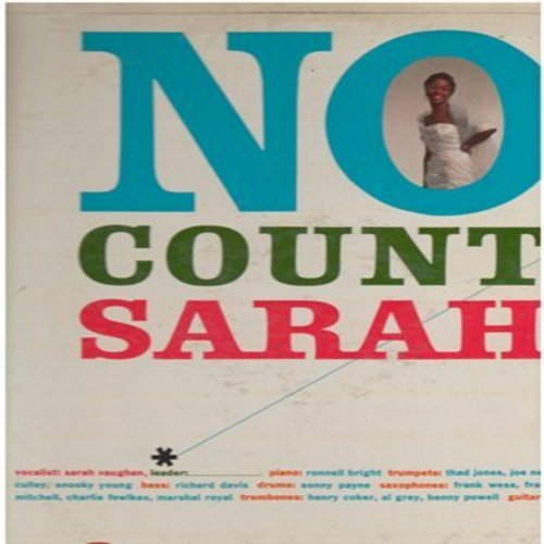 Vaughan, Sarah - No Count Sarah: Smoke Gets In Your Eyes, Cheek To Cheek, Stardust, Just One Of Those Things (Vinyl MONO LP record) - EX8/VG6 - LP Records