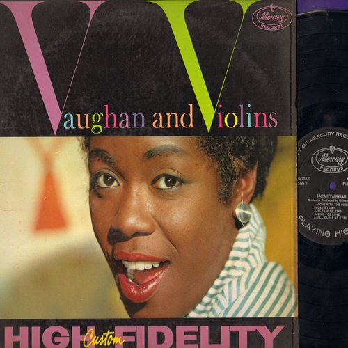 Vaughan, Sarah - Vaughan And Violins: Gone With The Wind, Misty, Love Me, The Thrill Is Gone, That's All (Vinyl MONO LP record) - EX8/NM9 - LP Records
