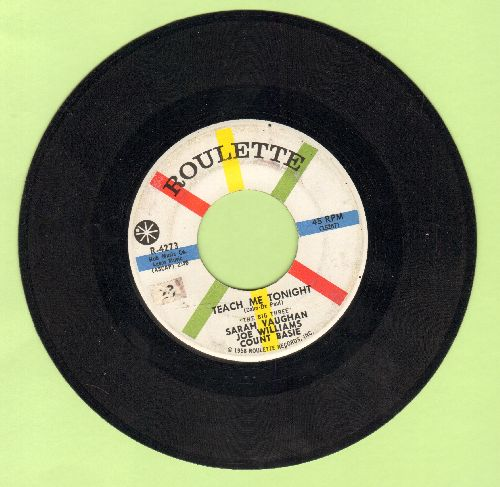 Vaughan, Sarah, Joe Williams, Count Basie - Teach Me Tonight/If I Were A Bell  - EX8/ - 45 rpm Records