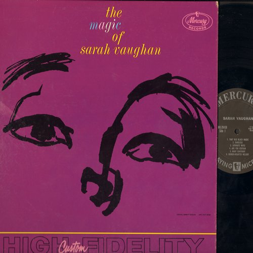 Vaughan, Sarah - The Magic Of Sarah Vaughan: That Old Black Magic, Broken Hearted Melody, Sweet Affection, Separate Ways, Careless, Don't Look At Me That Way (Vinyl MONO LP record) - EX8/EX8 - LP Records