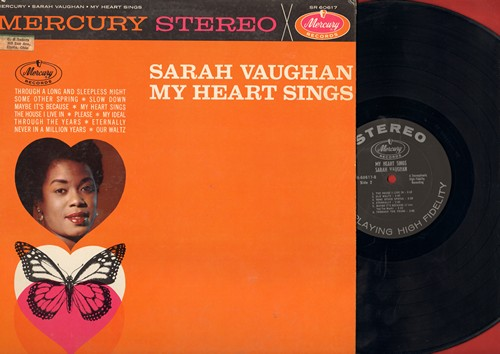 Vaughan, Sarah - My Heart Sings: Never In A Million Years, Eternally, Slow Down, Our Waltz (Vinyl STEREO LP record) - EX8/EX8 - LP Records