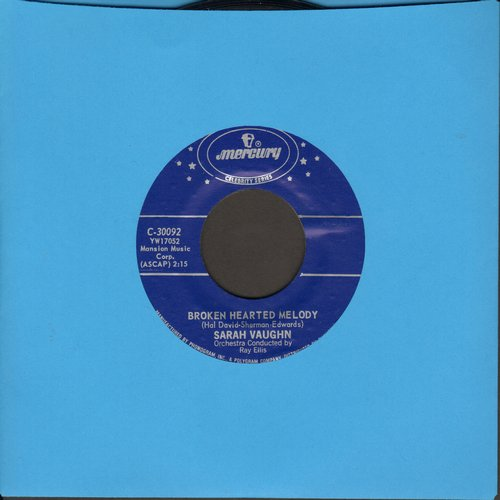 Vaughan, Sarah - Broken Hearted Melody/Misty (blue label double-hit reissue) - NM9/ - 45 rpm Records