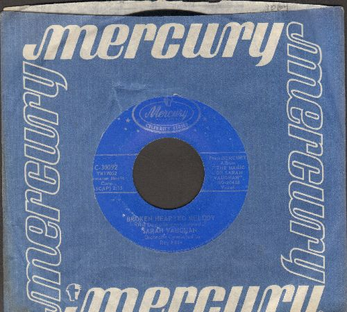 Vaughan, Sarah - Broken Hearted Melody/Misty (blue label double-hit reissue) - VG7/ - 45 rpm Records