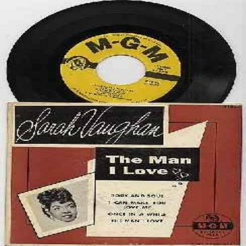 Vaughan, Sarah - The Man I Love/Body And Soul/I Can Make You Love Me/Once In A While (Vinyl EP record with picture cover) - EX8/EX8 - 45 rpm Records