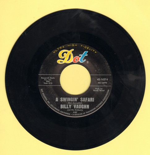 Vaughn, Billy & His Orchestra - A Swinging Safari/Indian Love Call - EX8/ - 45 rpm Records