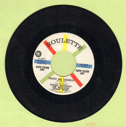 Vaughan, Sarah, Joe Williams, Count Basie - Teach Me Tonight/If I Were A Bell (DJ advance pressing) - NM9/ - 45 rpm Records