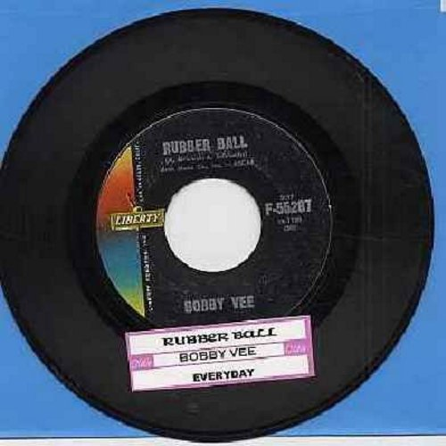 Vee, Bobby - Rubber Ball/Everyday (with juke box label) - VG7/ - 45 rpm Records