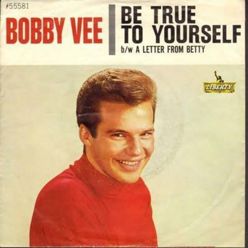 Vee, Bobby - Be True To Yourself/A Letter From Betty (with picture sleeve) - NM9/VG7 - 45 rpm Records