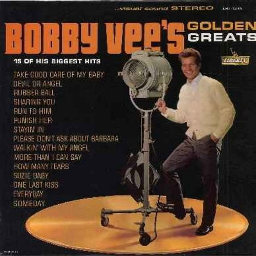 Vee, Bobby - Golden Greats: Take Good Care Of My Baby, Devil Or Angel, Rubber Ball, Run To Him, Punish Her, Please Don't Ask About Barbara, More Than I Can Say (Vinyl STEREO LP record) - VG7/VG7 - LP Records