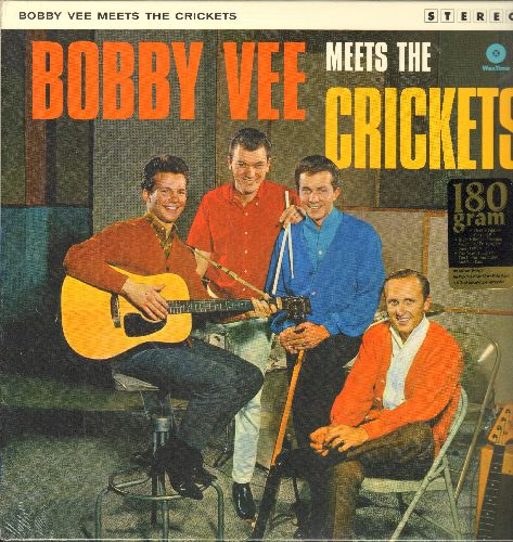Vee, Bobby - Bobby Vee Meets The Ventures: Peggy Sue, Bo Diddley, Lucille, The Girl Can't Help It, That'll Be The Day (Vinyl STEREO LP record, 180 gram Virgin Vinyl re-issue, SEALED, never opened!) - SEALED/SEALED - LP Records