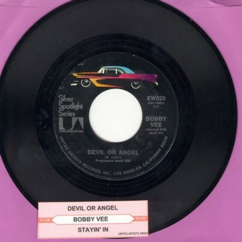 Vee, Bobby - Devil Or Angel/Stayin' In (re-issue with juke box label) - M10/ - 45 rpm Records