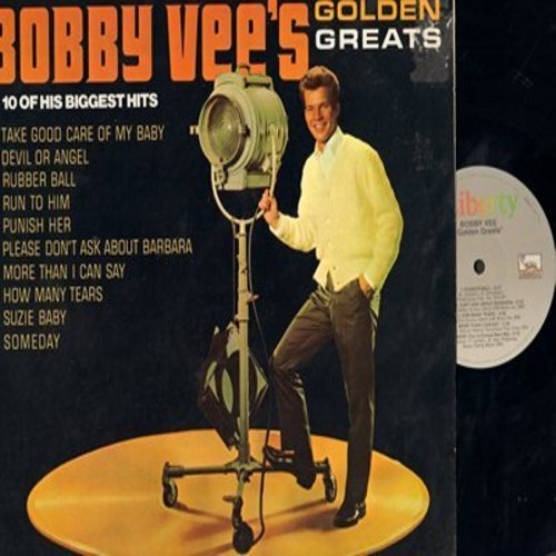 Vee, Bobby - Golden Greats: Take Good Care Of My Baby, Devil Or Angel, Rubber Ball, Run To Him, Punish Her, Please Don't Ask About Barbara, More Than I Can Say (Vinyl LP record, re-issue) - M10/EX8 - LP Records