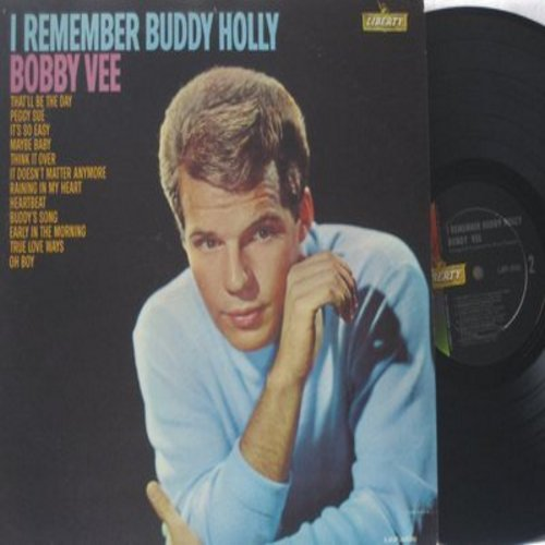 Vee, Bobby - I Remember Buddy Holly: Peggy Sue, Everyday, Oh Boy, That'll Be The Day, Think It Over, Heartbeat, Maybe Baby, It Doesn't Matter Anymore (Vinyl LP record, RARE MONO issue!) - EX9/VG7 - LP Records