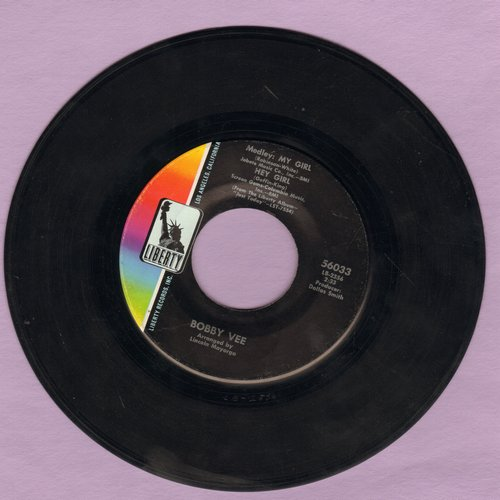 Vee, Bobby - Medley: My Girl/Hey Girl + Just Keep It Up - NM9/ - 45 rpm Records