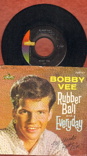 Vee, Bobby - Rubber Ball/Everyday (with picture sleeve) - EX8/VG7 - 45 rpm Records