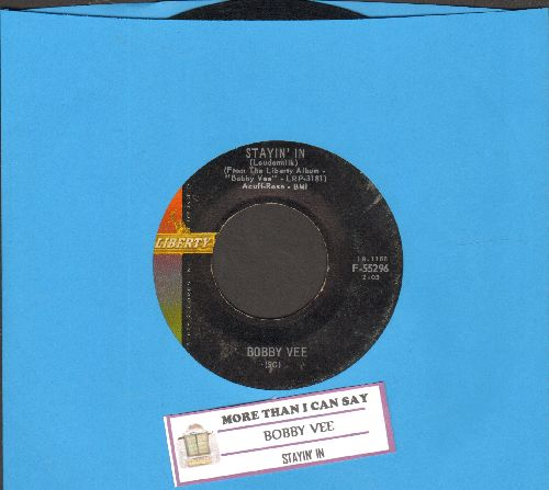Vee, Bobby - More Than I Can Say/Stayin' In  - VG7/ - 45 rpm Records