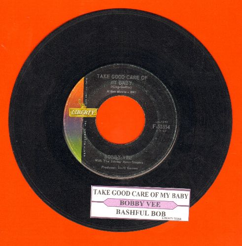 Vee, Bobby - Take Good Care Of My Baby/Bashful Bob (with juke box label) - VG7/ - 45 rpm Records