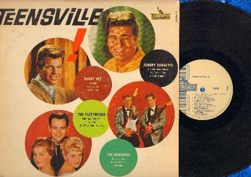 Vee, Bobby, Fleetwoods, Ventures, Johnny Burnette - Teensville!: Everyday, It's Only Make Believe, One Last Kiss, Raw-Hide, My Special Angel, Raindrops - Teardrops (Vinyl MONO LP record, DJ advance pressing) - EX8/VG7 - LP Records