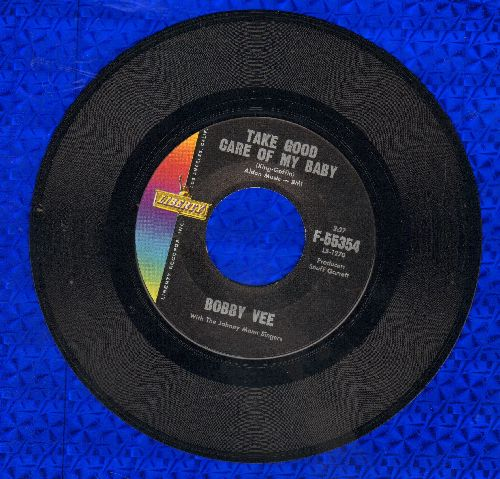 Vee, Bobby - Take Good Care Of My Baby/Bashful Bob  - EX8/ - 45 rpm Records