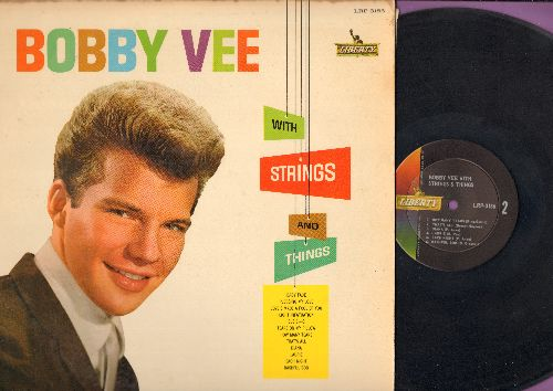 Vee, Bobby - With Strings And Things: Baby Face, Tears On My Pillow, Pledging My Love, Laurie, Diana, How Many Tears (Vinyl MONO LP record) - EX8/EX8 - LP Records