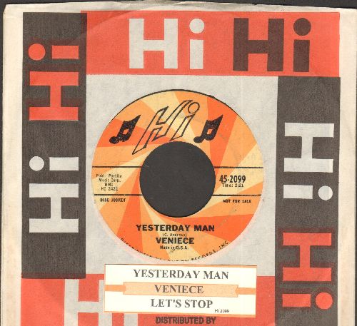 Veniece - Yesterday Man/Let's Stop (DJ advnace pressing with juke box label and Hi company sleeve) - EX8/ - 45 rpm Records