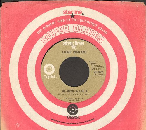 Vincent, Gene - Be-Bop-A-Lula/Lotta Lovin' (double-hit re-issue with company sleeve) - NM9/ - 45 rpm Records