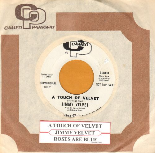 Velvet, Jimmy - A Touch Of Velvet/Roses Are Blue (DJ advance pressing with RARE Cameo company sleeve and juke box label) - NM9/ - 45 rpm Records