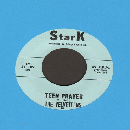 Velveteens - Teen Prayer (RARE version starting with the words -Holy Father up above-)/Baby Baby - EX8/ - 45 rpm Records