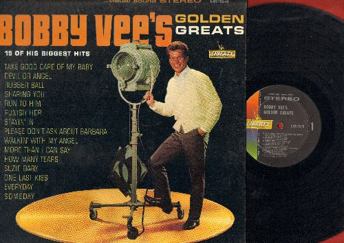 Vee, Bobby - Golden Greats: Take Good Care Of My Baby, Devil Or Angel, Rubber Ball, Run To Him, Punish Her, Please Don't Ask About Barbara, More Than I Can Say (Vinyl STEREO LP record) - EX8/EX8 - LP Records