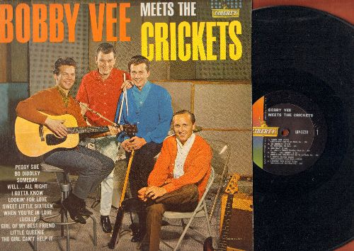 Vee, Bobby - Bobby Vee Meets The Crickets: Peggy Sue, Bo Diddley, Someday, Lucille, Girl Of My Best Friend, The Girl Can't Help It (Vinyl MONO LP record) - EX8/EX8 - LP Records