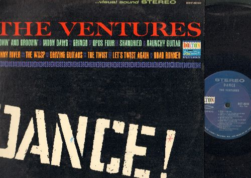 Ventures - Dance!: Moon Dawg, Raunchy Guitar, The wasp, The Twist, Road Runner, Let's Twist Again, Movin' And Groovin' (Vinyl LP record) - NM9/EX8 - LP Records