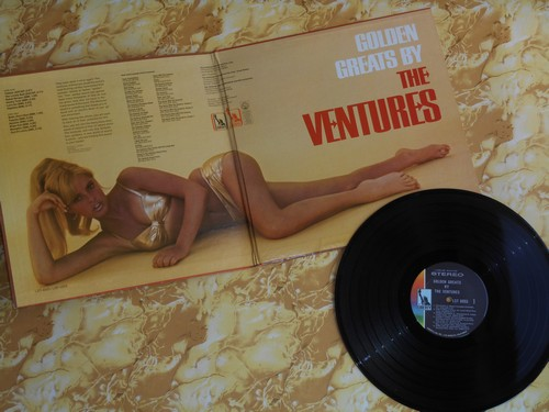 Ventures - Golden Greats: Walk-Don't Run, Apache, Telstar, Out Of Limits, Wipe Out, Tequila, Pipeline (Vinyl STEREO LP record, gate-fold cover) - EX8/VG7 - LP Records