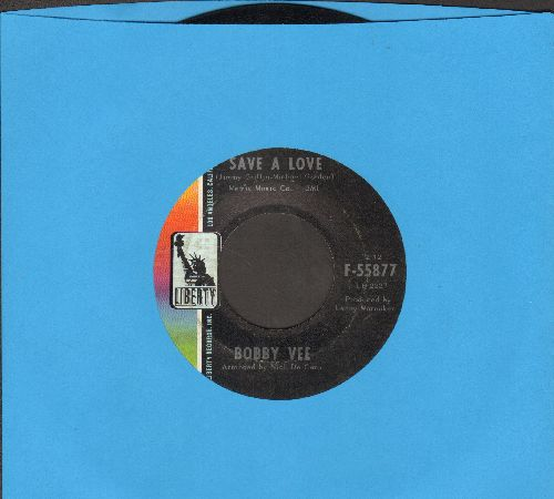 Vee, Bobby - Look At Me Girl/Save A Love - NM9/ - 45 rpm Records