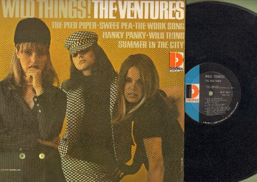 Ventures - Wild Things!: Hanky Panky, The Pied Piper, Summer In The City, Sweet Pea (Vinyl MONO LP record) - NM9/NM9 - LP Records