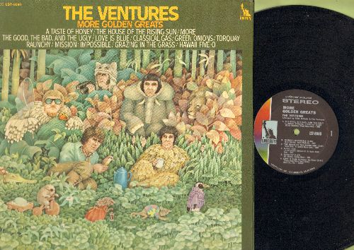 Ventures - More Golden Greats: Green Onions, The House Of The Rising Sun, Mission: Impossible, Hawaii Five-O, Tarquay (vinyl STEREO LP record, gate-fold cover) - NM9/NM9 - LP Records