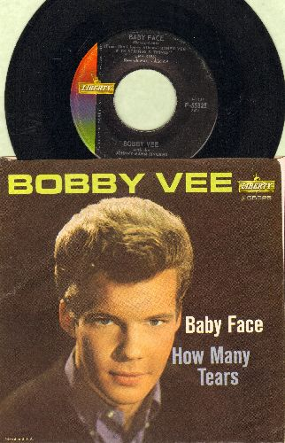 Vee, Bobby - Baby Face/How Many Tears (with picture sleeve) - NM9/EX8 - 45 rpm Records