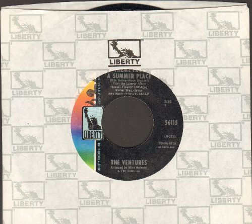 Ventures - Theme From A Summer Place/A Summer Love (with Liberty company sleeve) (minor wol) - NM9/ - 45 rpm Records