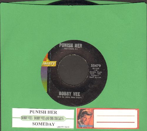 Vee, Bobby - Punish Her/Someday (with juke box label) - EX8/ - 45 rpm Records
