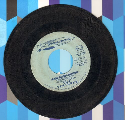 Ventures - Ram-Bunk-Shush/Lonely Heart (minor wol) - VG7/ - 45 rpm Records