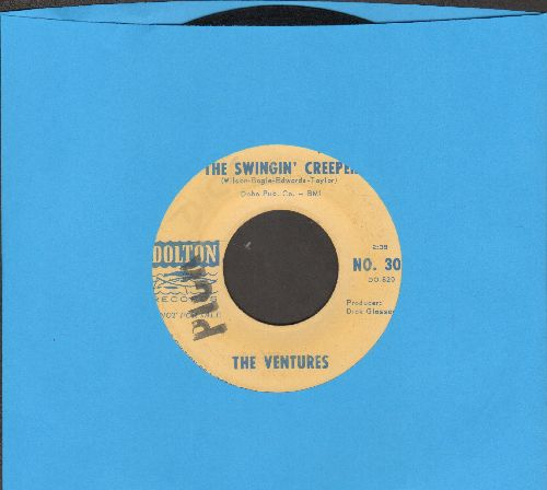 Ventures - Pedal Pusher/The Swingin' Creeper (FANTASTIC Drag-Surf Instrumental 2-sider, DJ advance pressing) - VG7/ - 45 rpm Records