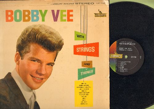 Vee, Bobby - With Strings And Things: Baby Face, Tears On My Pillow, Pledging My Love, Laurie, Diana, How Many Tears (Vinyl STEREO LP record) - EX8/VG7 - LP Records