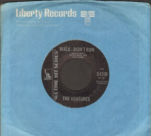Ventures - Walk--Don't Run/Ram Bunk Shush (re-issue with company sleeve) - NM9/ - 45 rpm Records