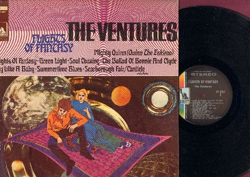 Ventures - Flights Of Fantasy: Mighty Quinn, Soul Coaxing, Summertime Blues, Cry Like A Baby (Vinyl STEREO LP record) - NM9/NM9 - LP Records