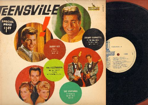 Vee, Bobby, Fleetwoods, Ventures, Johnny Burnette - Teensville!: Everyday, It's Only Make Believe, One Last Kiss, Raw-Hide, My Special Angel, Raindrops - Teardrops (Vinyl MONO LP record, DJ advance pressing) - NM9/VG7 - LP Records
