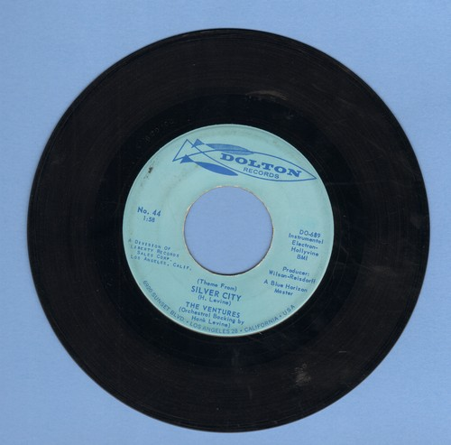 Ventures - Theme From Silver City/Bluer Than Blue - VG7/ - 45 rpm Records
